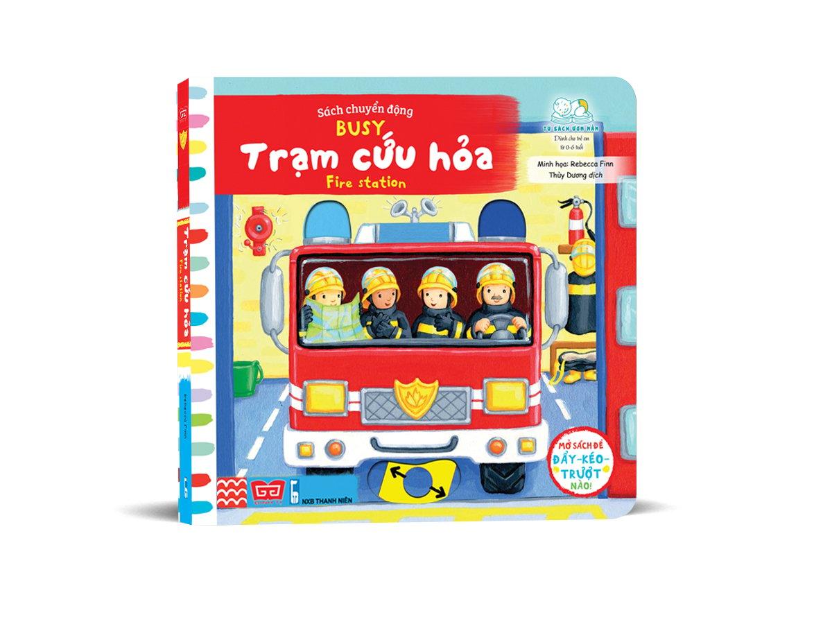 Sách tương tác - Sách chuyển động - Busy - Fire station - Trạm cứu hỏa