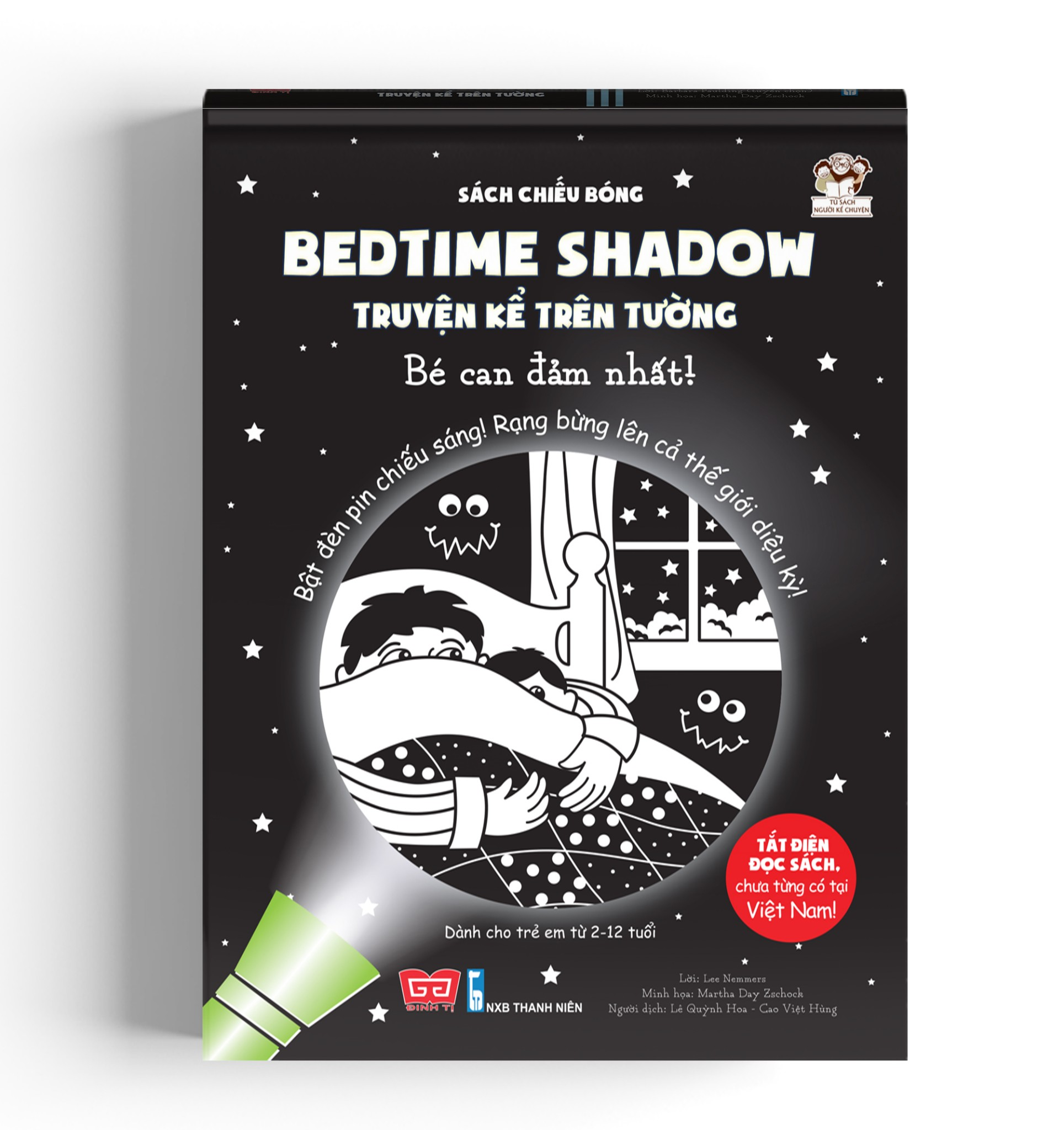Sách tương tác - Sách chiếu bóng - Bedtime shadow – Truyện kể trên tường - Bé can đảm nhất!