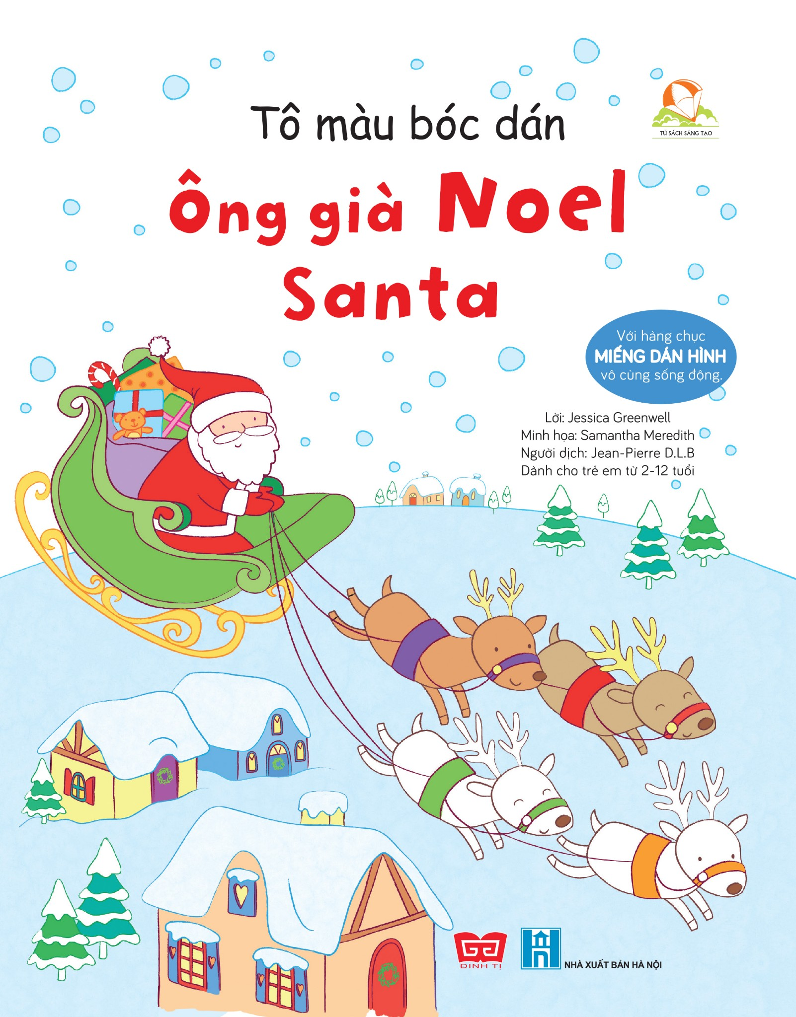 Tô màu bóc dán - Ông già Noel - Santa