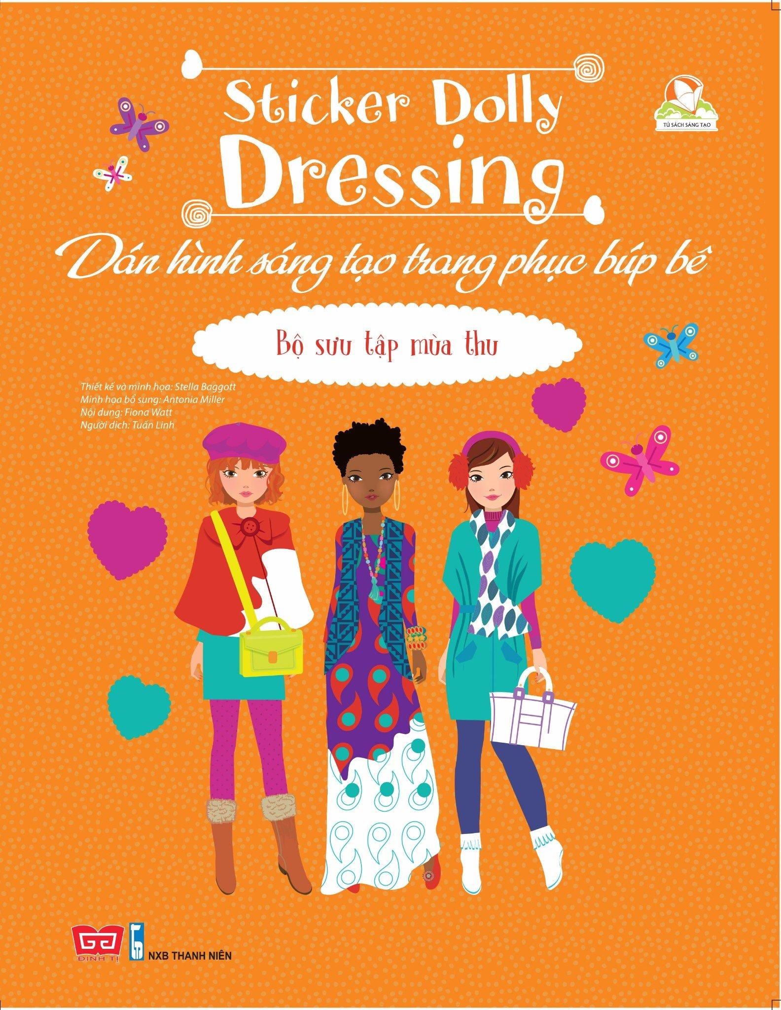 Dán hình sáng tạo trang phục búp bê - Bộ sưu tập mùa thu