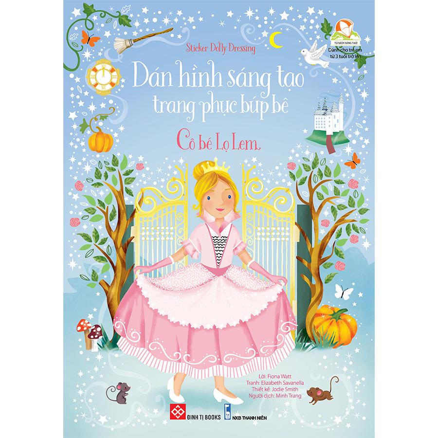 Sticker Dolly Dressing - Dán hình sáng tạo trang phục búp bê - Cô bé Lọ Lem