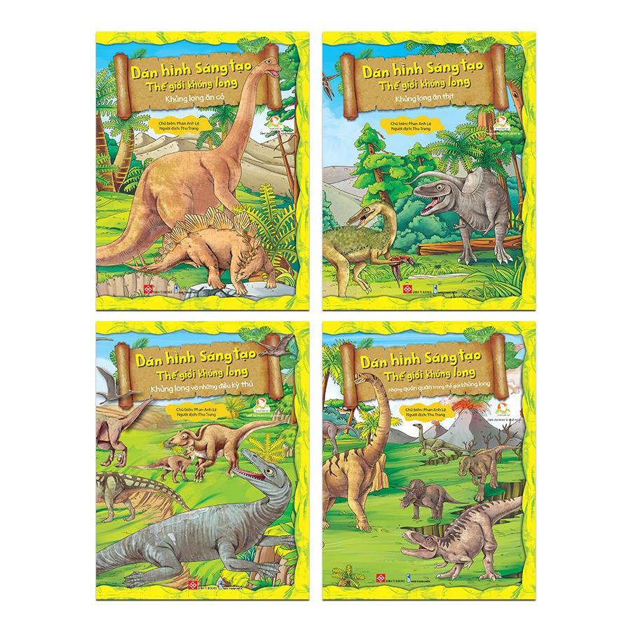 Set Dán hình sáng tạo - Thế giới khủng long (4 cuốn)