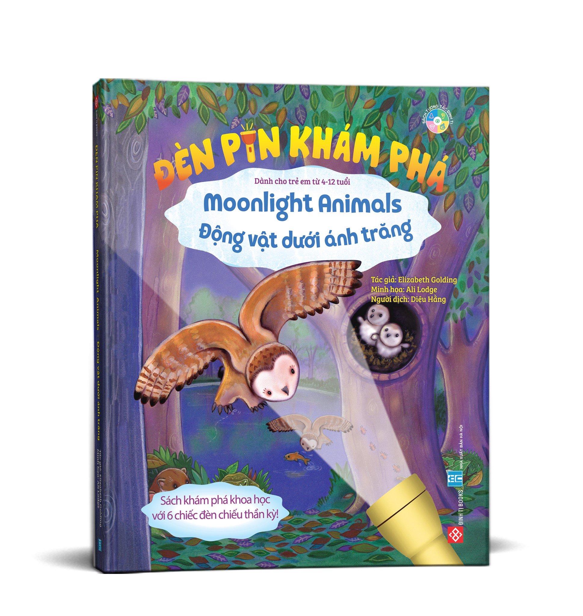 Đèn pin khám phá - Moonlight Animals - Động vật dưới ánh trăng (Đặt trước)