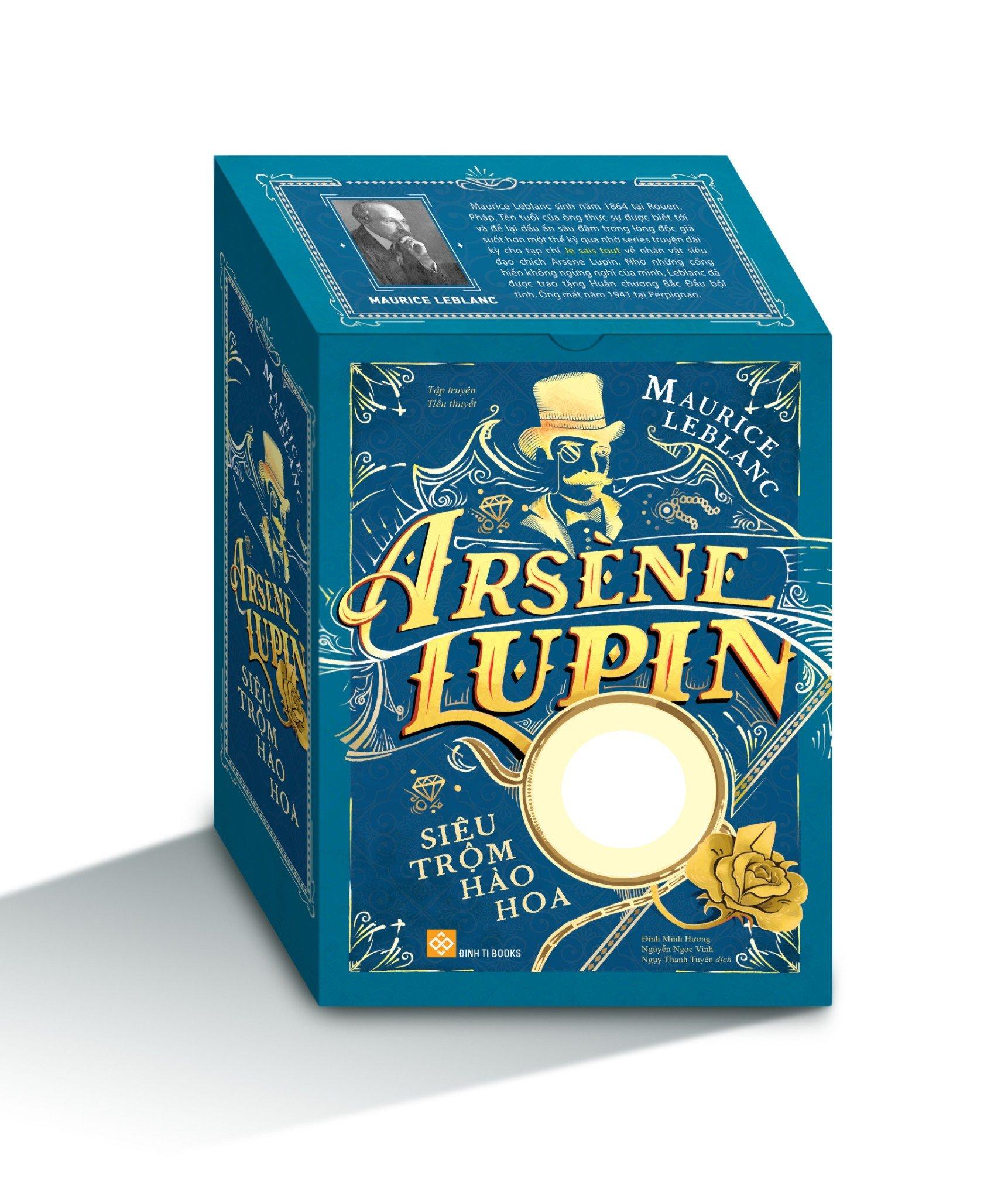 Box set Arsène Lupin - Siêu trộm hào hoa (trọn bộ 5 cuốn) (Tặng kèm kính lúp)