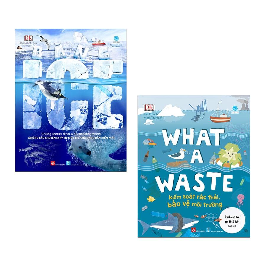 Set 2 cuốn: What a waste - Kiểm soát rác thải, bảo vệ môi trường + Băng - ICE