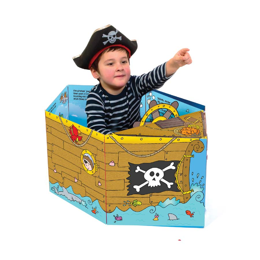 Convertible - Sách biến hóa mô hình - Pirate Ship – Tàu cướp biển