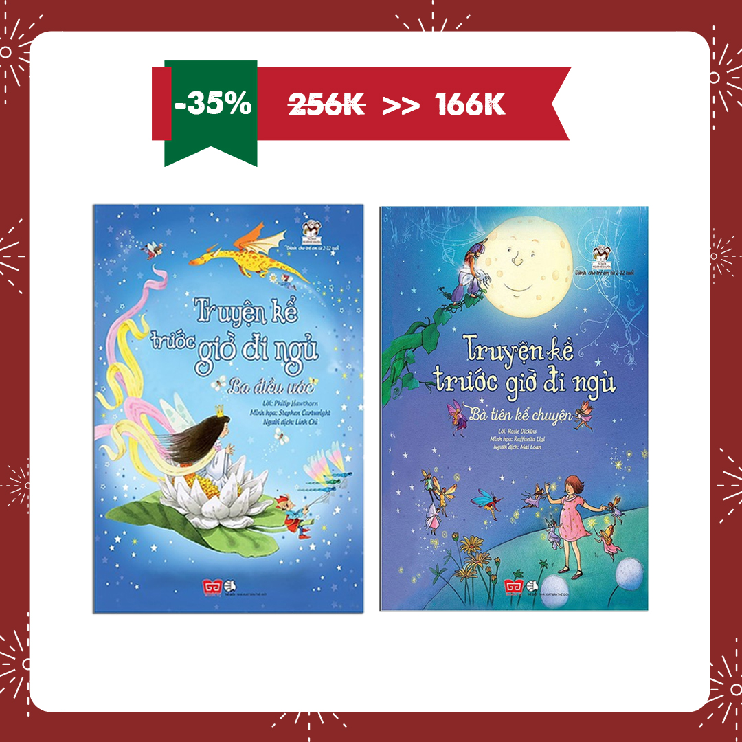 Combo 2 cuốn Truyện kể trước giờ đi ngủ: Ba điều ước + Bà tiên kể chuyện