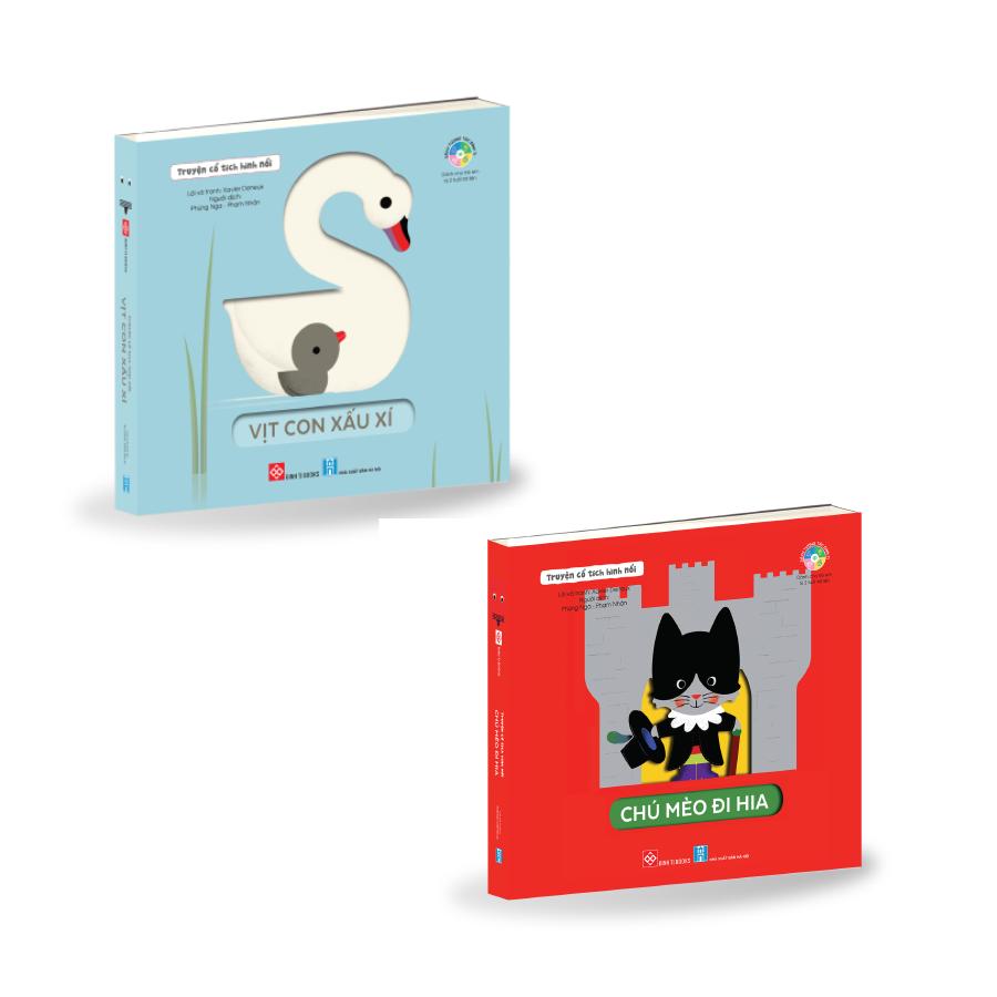 [Đặt trước]Combo - Truyện cổ tích hình nổi - Vịt con xấu xí + Chú mèo đi hia