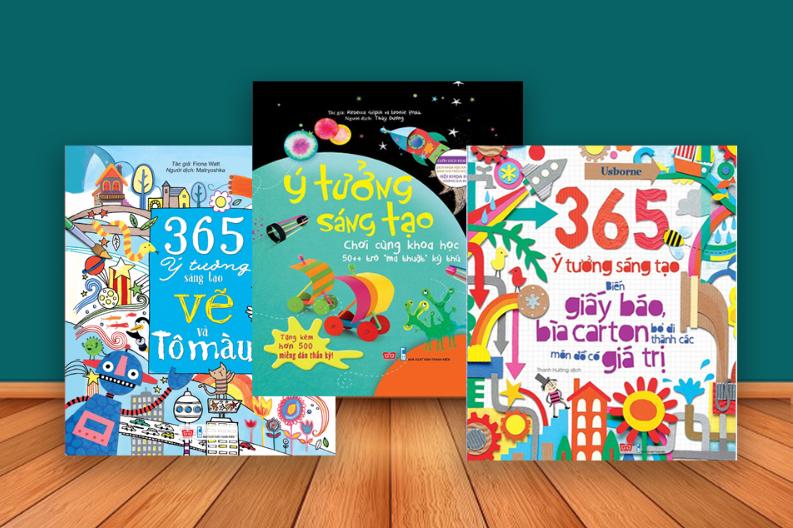 365 ý tưởng sáng tạo (Vẽ và tô màu + Biến cái không thể thành có thể 50++ + Biến giấy báo, bìa carton bỏ đi thành các món đồ có giá trị)