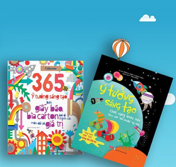 Set 365 ý tưởng sáng tạo: Biến giấy báo, bìa carton bỏ đi thành các món đồ có giá trị + Ý tưởng sáng tạo trò chơi khoa học