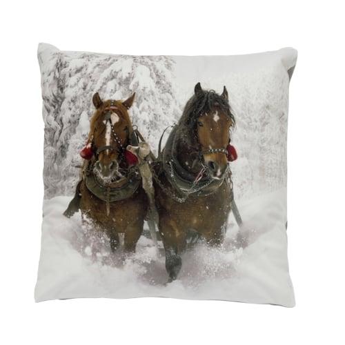 Vỏ gối trang trí 2 horses-snow (EQ-X986)