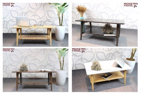 Hana sofa table - Natural&White