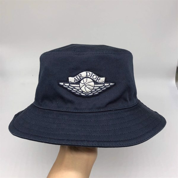 Dior x Jordan Wings Bucket Hat Navy