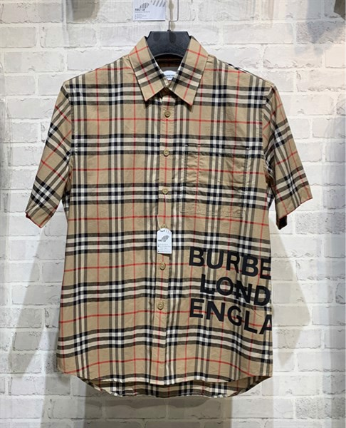 Burberry Short-sleeve Vintage Check Cotton Oversized Shirt (1:1)