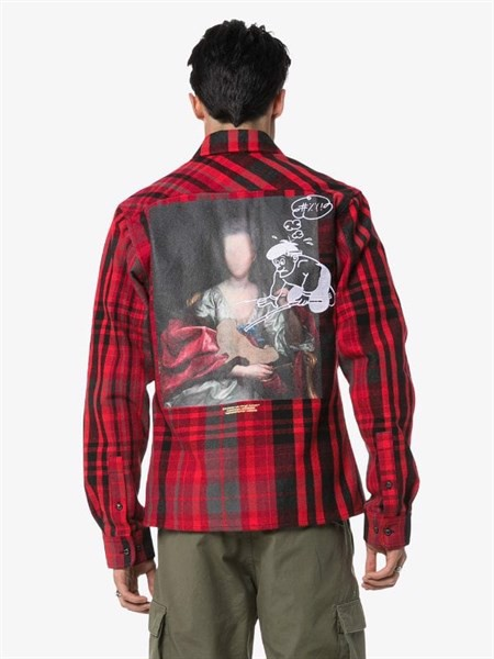 Off-White Mariana De Silva Check Shirt Red