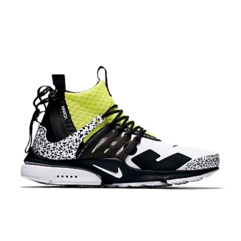 Air Presto Mid Utility X Acronym 'White/Dynamic Yellow''(1:1)