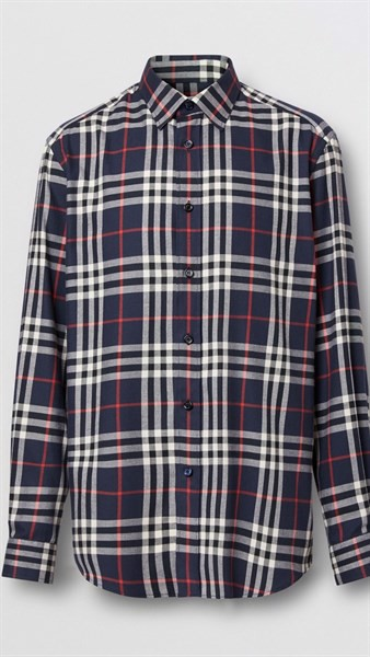 BBR Vintage Check Cotton Flannel Shirt Navy (1:1)