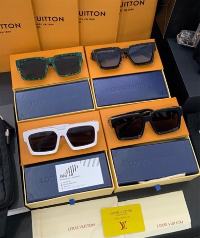 1.1 millionaires sunglasses LV (White; black; green marble; black blue)