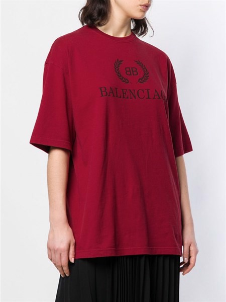 Balenciaga Red BB T-Shirt (1:1)