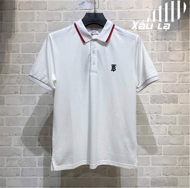BBR Icon Stripe placket piqué polo shirt (White) (1:1)