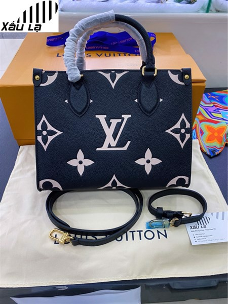 LV onthego PM BLACK / BEIGE BAG