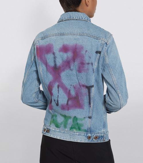 Off-White Sprayed Denim Jacket (1:1)