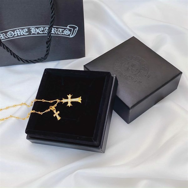 Chrome Hearts Double Cross Pendant Gold 22k
