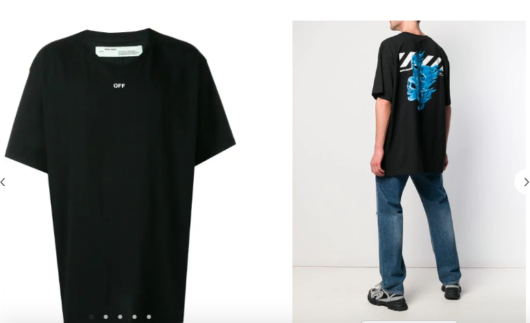OFF-WHITE SKULL printed oversized T-shirt (1:1)