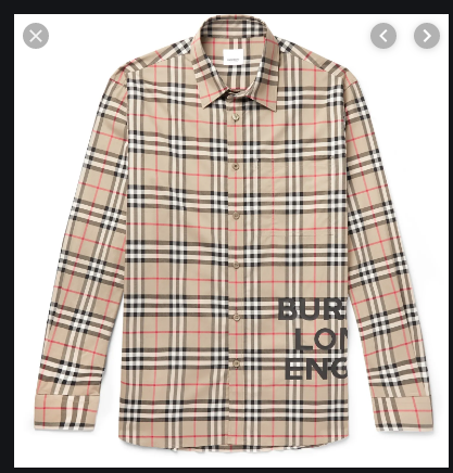 Logo-Print Checked Cotton-Poplin Shirt (REP AA)