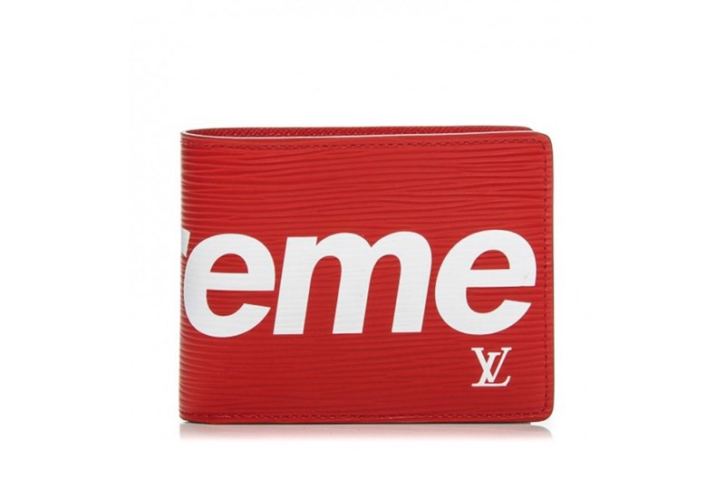 Louis Vuitton x Supreme Slender Wallet Epi Red (best)