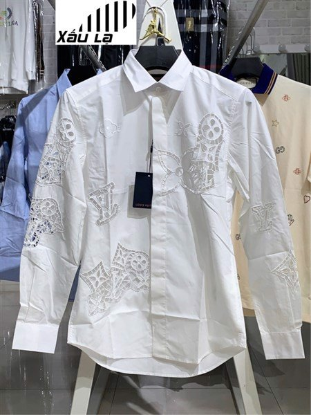 LV BRODERIE ANGLAISE FLOWER SLIM FIT SHIRT