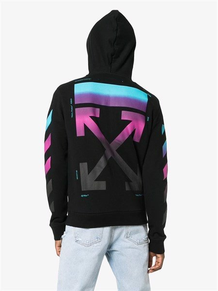 OFF WHITE GRADIENT HOODIE WITH ZIP (1:1)
