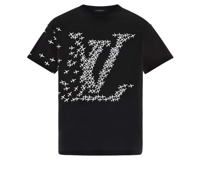 LV PLANES PRINTED T-SHIRT Black (1:1)