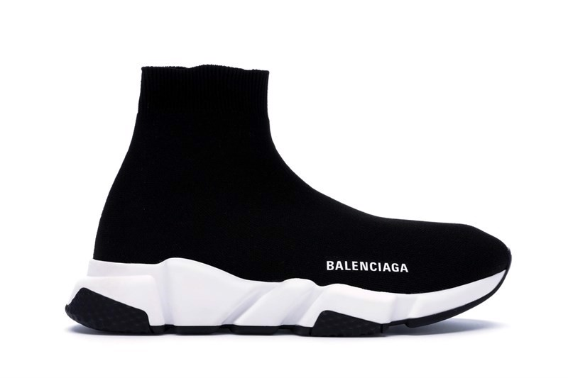 Balenciaga Speed Trainer Black White BIG PRINT VERSION (PK)
