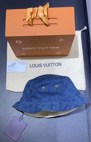 Louis Vuitton Virgil Abloh LV Monogram Denim Bucket Hat Blue