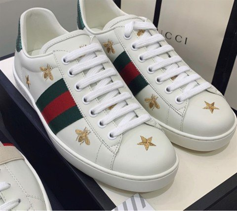 Gucci White Bee & Star New Ace Sneakers(PK)