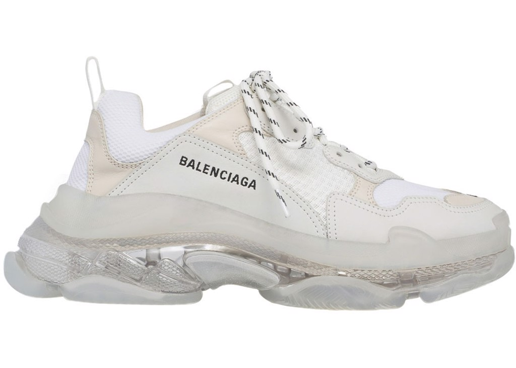 BALENCIAGA TRIPLE S CLEAR SOLE TRAINERS grey (PK)