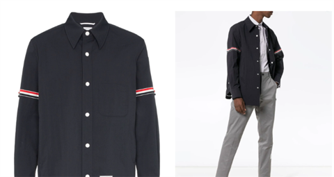 THOM BROWNE Solid Nylon Armband Shirt Jacket (1:1)