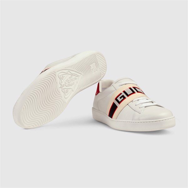 Gucci stripe BELT leather sneaker (PK)