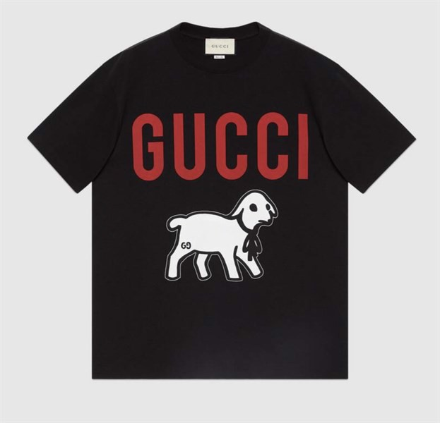Gucci Oversize T-shirt with lamb (1:1)