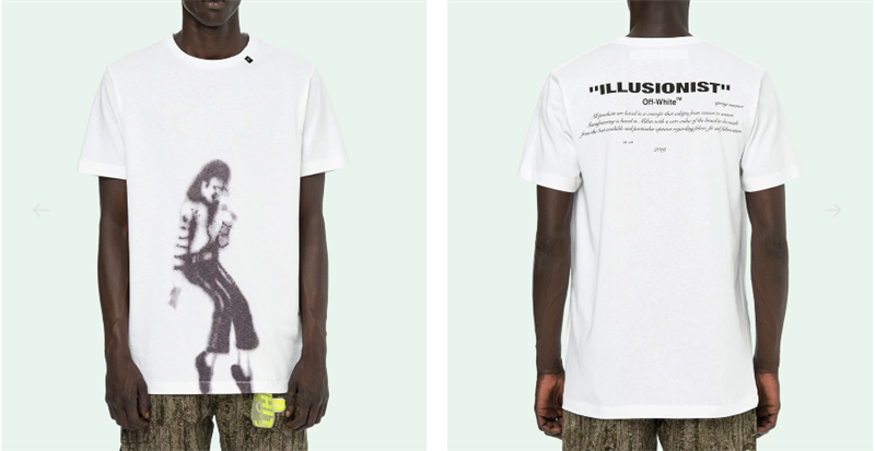OFF WHITE 2019 Michael Jackson T-SHIRT