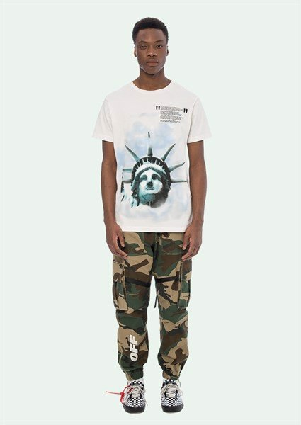 OFF WHITE LIBERTY S/S T-SHIRT