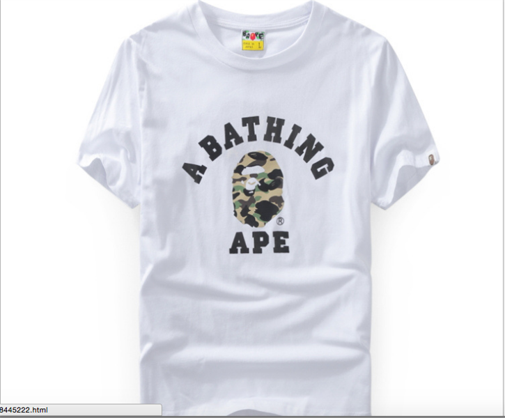 A BATHING APE CAMO HEAD T-SHIRT