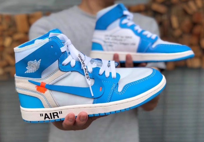 Virgil Abloh x Air Jordan 1 ''Powder Blue'' (1:1)