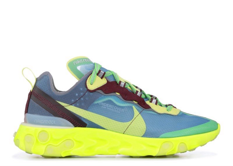 NIKE REACT ELEMENT 87 ''UNDERCOVER'' electric yellow (1:1)