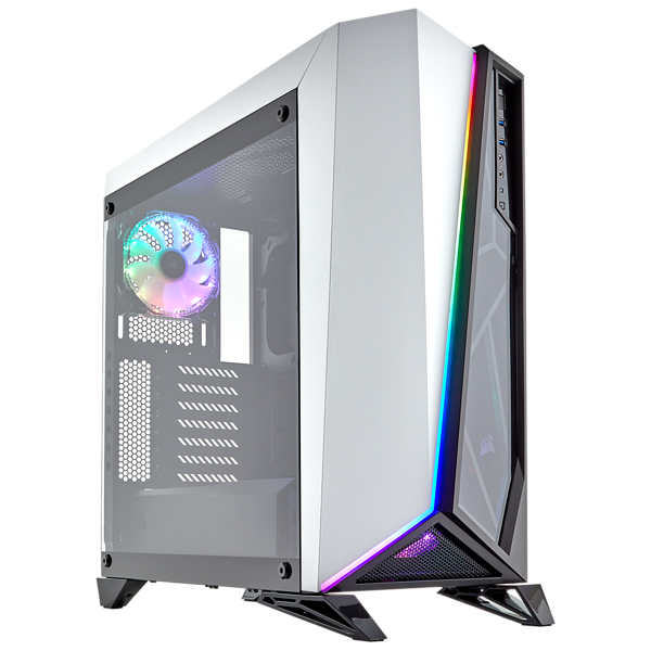 Thùng Máy Corsair SPEC OMEGA RGB White Tempered Glass Mid Tower Gaming Case