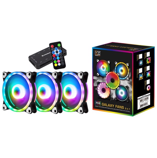 Kit 3 Fan Xigmatek Galaxy Ultimate CO120 RGB