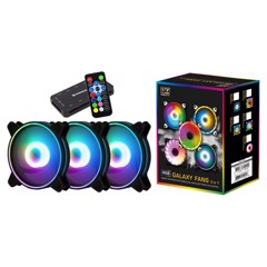 Kit 3 Fan Xigmatek Galaxy Pro CT120 RGB