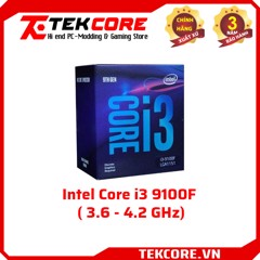 CPU Intel Core i3 9100F (6M Cache, 3.6 - 4.2 GHz) - Socket 1151v2 - No iGPU