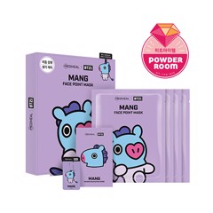bt21 x mediheal face point mask set mang